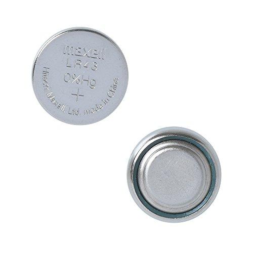 10 MAXELL LR43 186 AG12 pilas alcalinas 1.5v