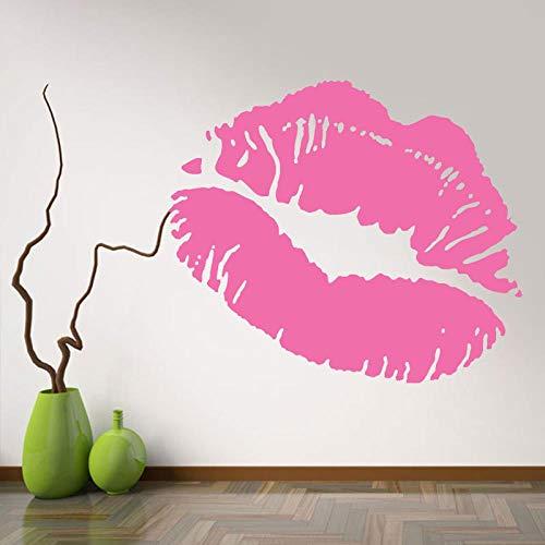 CYJQT Wandaufkleber Wanddekoration Schönheitssalon Nagel Mädchen Hot Lips 49X42 Cm Bekleidungsgeschäft Vinyl Aufkleber Mädchen Selbstklebende Diy Wandkunst Wandbild (Glamour Hot Mädchen)