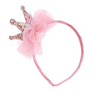 MagiDeal Kinder Mädchen Pailletten Spitze Krone Haarband Party Haar Schmuck Haarspange