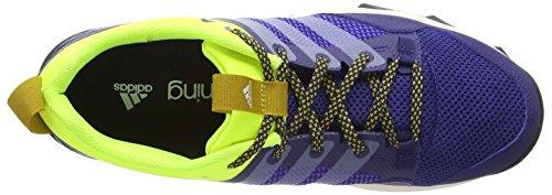 adidas Kanadia 7 Trail Herren Laufschuhe Blau (Midnight Indigo F15/Chalk White/Solar Yellow)