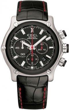 Ebel 1911 BTR Black Strap Dial Chronograph Mens Watch 9137L73.5335145RS