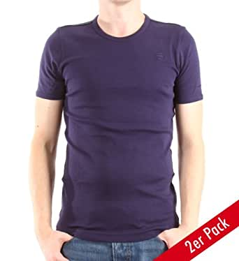 G-Star Herren T-Shirt Round Neck Short Sleeve Double Pack, navy, Gr. XL