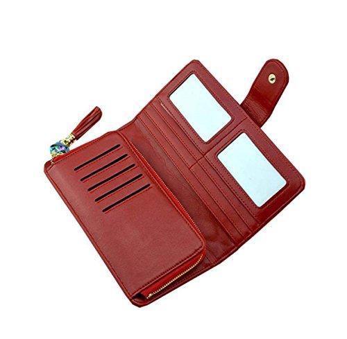 Ms. Portafoglio In Pelle Pacchetto Portafoglio Telefono Portafogli Pacchetto Di Svago Carta Pacchetto Borsa Orange