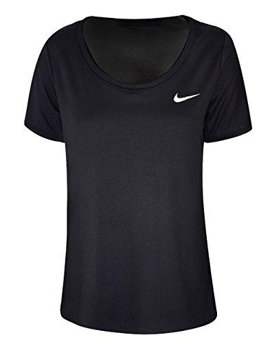 Nike Damen Dri-FIT Trainings T-Shirt, Black/White, M