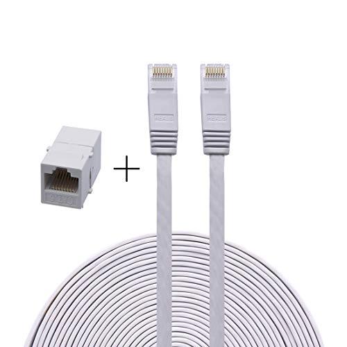 QiCheng&LYS Cat6 Flaches LAN-Verlängerungskabel, LAN-Netzwerkstecker, Dual Purpose, LAN-Jumper 1M - 5e Keystone-koppler