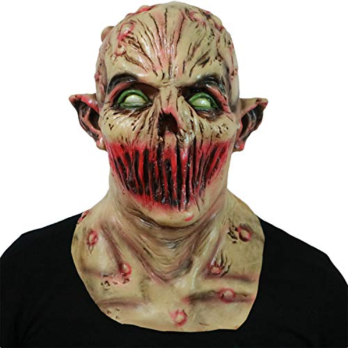 XINLAI Neuheit Halloween Full Head High Simulation Horror Latex Maske Vampire Horror Maske Kopfschmuck Lipless Ghost Zombie - Monster High Ghost Kostüm