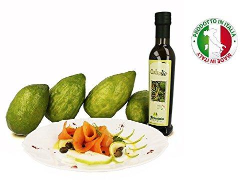 Extra natives Olivenöl aromatisiert mit Cedro Kalabrien Handwerkliches Produkt - 12 Flaschen (25 cl.)