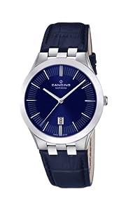 Candino C4540/2 - Reloj analógico de cuarzo para hombre, correa de cuero color azul de Candino