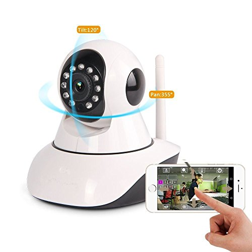 iShope IP Camera, Security Camera, Baby Monitor Wireless Camera Video Monitor 2 Way Audio P2P Pan & Tilt Remote Motion Detect Alert with Multi stream View and Night Vision 4189O9p0PkL