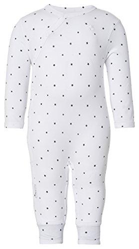 Noppies Unisex Baby U Playsuit Jrsy Lou AOP Strampler, Weiß (White C001), (Herstellergröße: 74)