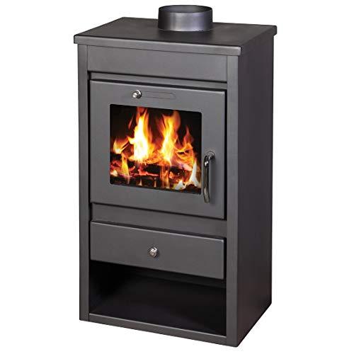Estufa de leña chimenea moderna Log quemador estufa para madera, parte superior-9kW