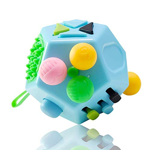 Saihua 12 Sided Fidget Cube Toy Stress and Anxiety Relief Depression Anti Cube for Children and Adults