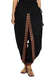 9Rasa Womens Cotton Dhoti Pants (9rasa-BT-11_Black_Free Size)