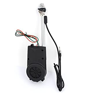 sourcingmap DC 12V Universal AM FM Radio Electric Automatic Antenna Black BF-686
