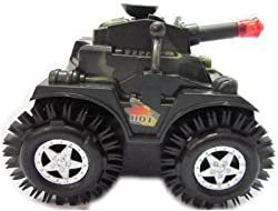 Happie Shop Tumbling Tank 360 Rolling Non Stop Toys. Battery Operated With Flashing Lights.