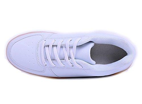 Chaussures/baskets lumineux lED-couleurs changeantes-livraison immédiate Blanc - Blanc