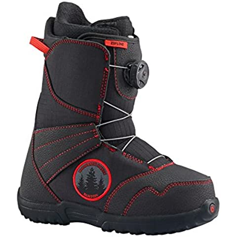 Burton Snowboard Boots ZipLine Boa, niño, Snowboardboots ZIPLINE BOA, negro/rojo