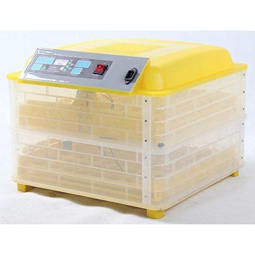 Borsten und Federn Geflügel Kit Brutmaschine Digitale Automatische 96Eier + Zubehör–55x 54x 35cm–Gelb