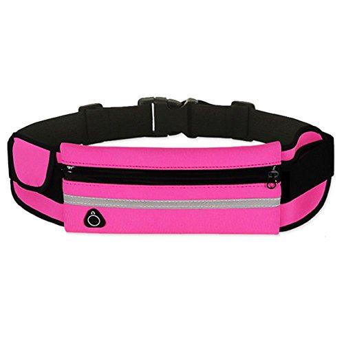 Doitsa Rosa Negro Bolsas Cinturón Riñonera Impermeable