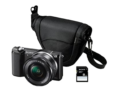 Sony Alpha 5000 Kompaktkamera mit Spiegelreflexkamera (Full HD, 20 Megapixel, Exmor APS-C HD CMOS Sensor, 7,6 cm (3 Zoll) Schwenkdisplay)