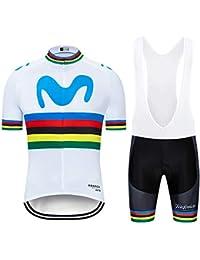 ZHLCYCL Traje Ciclismo Hombre, Maillot Ciclismo y Culotte Ciclismo con 5D Gel Pad para Verano