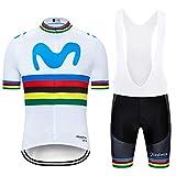 ZHLCYCL Traje Ciclismo Hombre, Maillot Ciclismo y Culotte Ciclismo con 5D Gel Pad para Verano Deportes al Aire...