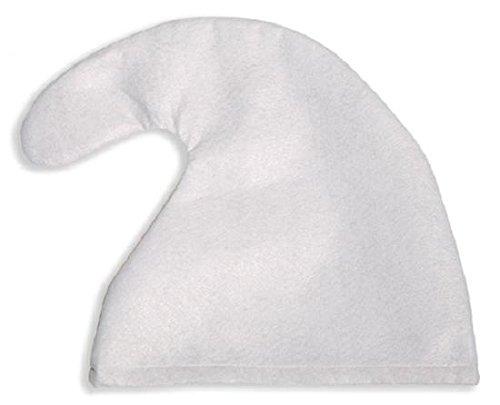 1 x Zwergenmütze Mütze weiß Zwerg Fasching Karneval fürs Kostüm (Kostüme Schlümpfe)