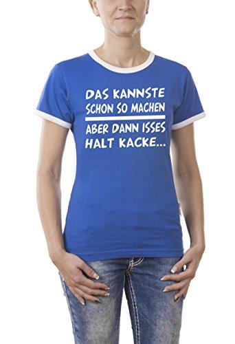 Touchlines Damen T-Shirt Das Kannste So Machen Kontrast Blau (Royal 09), X-Large