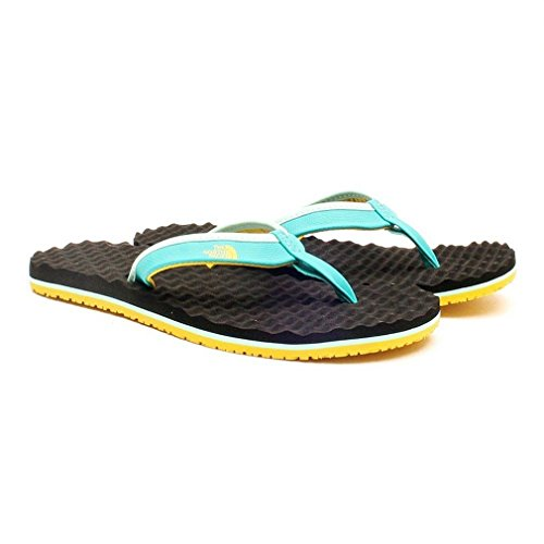 The North Face W BASE CAMP MINI, Tongs femme Jaiden Green/Sulpher Yellow