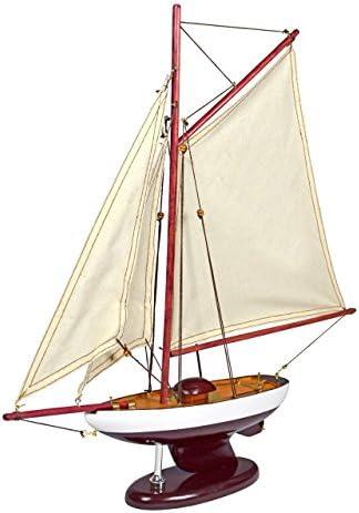 Élégante maquette 'chaloupe' de bateau en bois 'chaloupe' maquette avec support d3b807