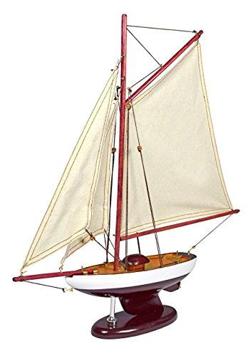 Navyline Holz Modellboot mit Standfuß - Schaluppe