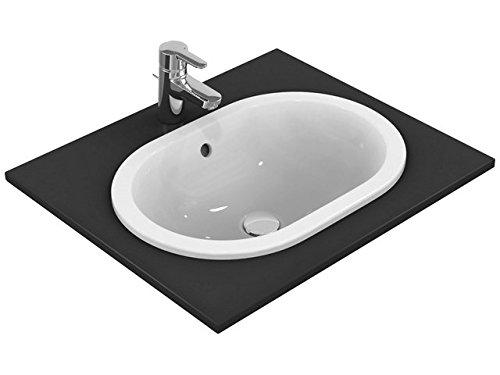 Ideal Standard anschließen Arbeitsplatte Becken E5045MA, 480x 350x 175mm Oval mit Überlauf weiß mit Ideal Plus
