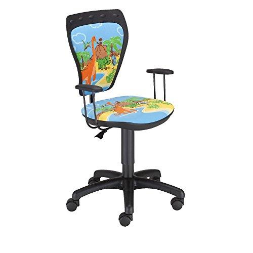 Schreibtischstuhl Kinder Zimmer Jungen Dinosaurier Drehstuhl Ministyle DINO mit Armlehnen