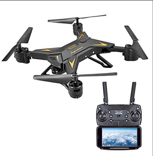 SIAMNUI FPV RC-Drohne mit Kamera, Live-Video und GPS-Heimkehr-Quadcopter mit verstellbarem Weitwinkel-1080P-HD-WIFI-Kamera - Follow-Me, Höhenstand, Intelligente Batterie Weiß schwarz,Black