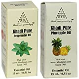 Khadi Pure Peppermint and Pineapple Essential Oil Combo (30ml) Pack 2