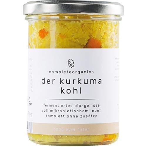 completeorganics Blumenkohl mit Kurkuma im Glas, milchsauer fermentiert (320 g) - Bio