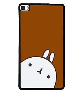 Fuson 2D Printed Cartoon Designer back case cover for Huawei P8 - D4302
