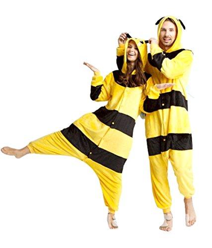 Inception Pro Infinite Größe XL - Pyjamas und Kostüm - Verkleidung - Karneval - Halloween - Pikachu - Pokemon - Gelb - Schwarze Streifen - Erwachsene - Unisex - Frauen - Männer - Jungen (Pokemon Kostüm Für Jungen)