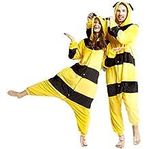Inception Pro Infinite ♛ Tamaño S - Pijamas y Disfraz Traje Carnaval y Halloween De Pikachu Pokemon Color Amarillo con tiras Negro Adultos Unisex Mujer Hombre Muchachos