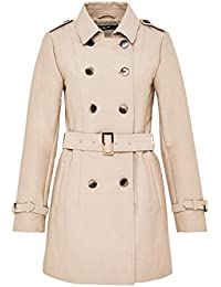 Hallhuber Short Trench Coat with Back Vent