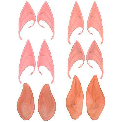Sumind 6 Paare Elfe Ohren Fee Pixie Ohr Cosplay Kostüm Alien Ohren für Halloween Weihnacht Masquerade (Weihnachten Kostüme Elf Erwachsenen)