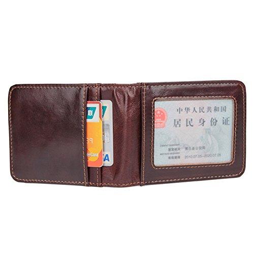 RFID Slim gefaltete Portemonnaies Leder kartenetui Minimalist ID-kartenetui für Männer mit Geldklammer