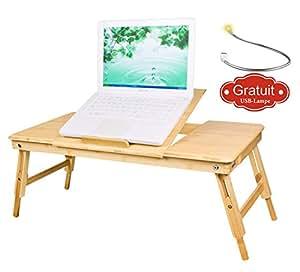 Sobuy tavolino pieghevole e portatile da letto oppure per pc altezza regolabile frabbricato - Tavolino da letto per pc ...