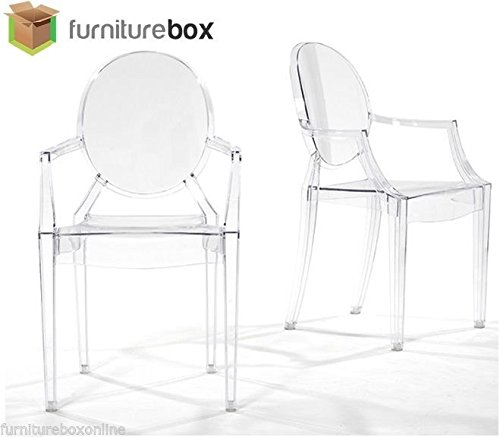new-louis-ghost-armchair-transparent-clear-philippe-starck-style-dining-chair-x4