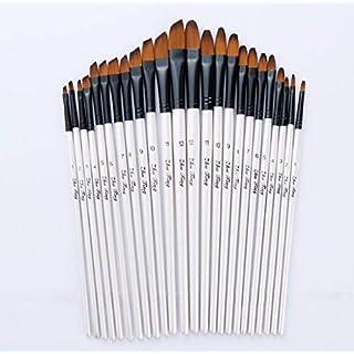 Pinsel Bürobedarf Schreibwaren Künstler Bastelbedarf Malen Künstler Aquarellmalerei Pinsel Pinsel Öl Acryl flach & schräg lackiert