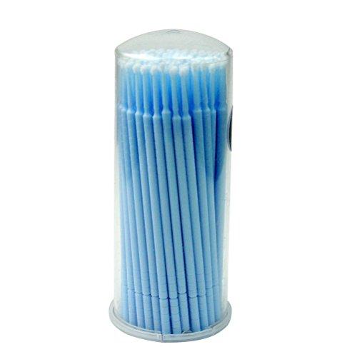 ROSENICE Pennelli Mascara Estensione ciglia pelucchi Micro pennelli applicatori Mascara - 100 (100% Cotone Tamponi)