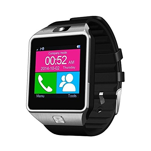 eCosmos Bluetooth Smart Watch Phone With Camera and Sim Card Support With Apps like Facebook and WhatsApp Touch Screen Multilanguage Android/IOS Mobile Phone Wrist Watch Phone with activity trackers and fitness band features compatible with Samsung IPhone HTC Moto Intex Vivo Mi One Plus and many others! Launch Offer!!