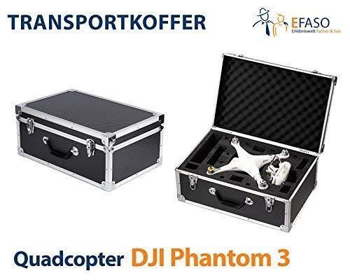 efaso DJI Phantom 3 Case - Premium Transportkoffer/Alukoffer passend für Quadrocopter