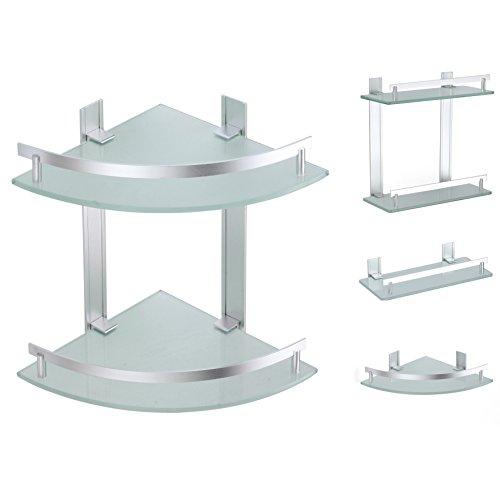 MSV Tabarca rincón-Mensola, 2 livelli, in alluminio e vetro