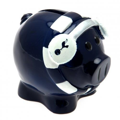 Keramik-Spardose / Sparschwein mit Tottenham Hotspur FC Fußball-Design (Einheitsgröße) (Marineblau/Weiß)